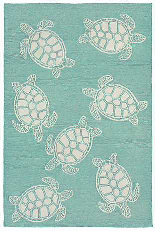 "Home Accents Fortina Terrapin Indoor/Outdoor Rug 5' x 7'6"", , rollover"