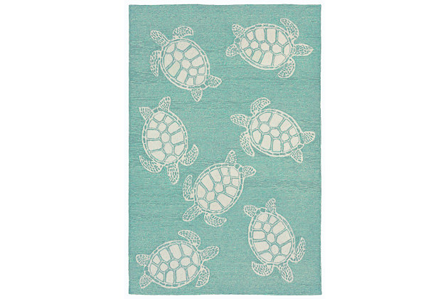 """Home Accents Fortina Terrapin Indoor/Outdoor Rug 5' x 7'6"""", , large"""