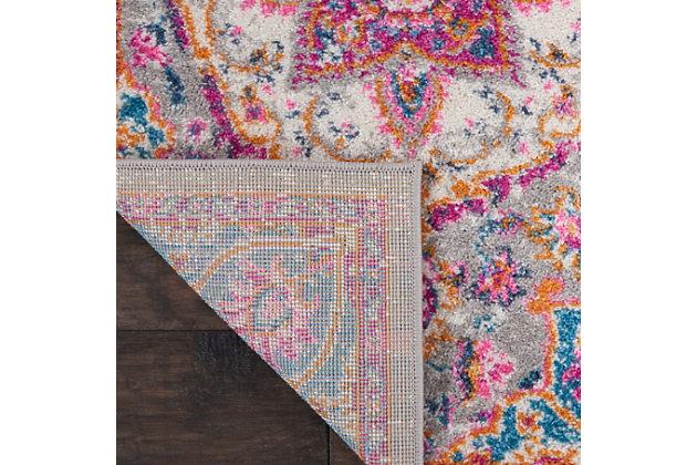 "Nourison Passion Bohemian Grey Multi Colored  1'10""X2'10"" Area Rug, Gray/Multi, large"