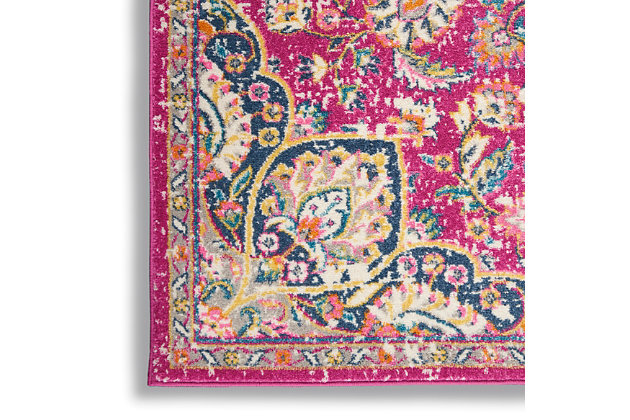 """Nourison Passion Bohemian Pink Colored  3'9""""X5'9"""" Area Rug, Pink, large"""