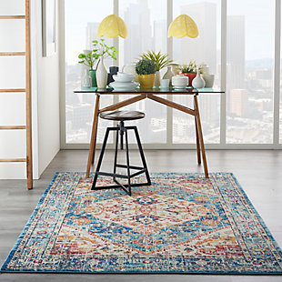 Nourison Passion 5' x 7' Ivory Light Blue Area Rug, Ivory/Light Blue, rollover