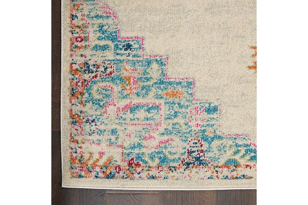 Nourison Passion 5' x 7' Gray, Ivory, Multicolored Bohemian Area Rug, Gray/Multi, large