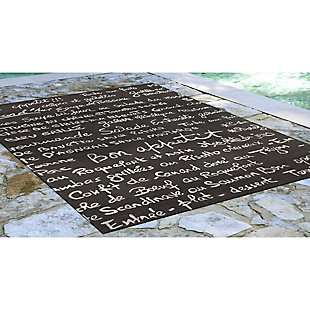"Home Accents Deckside Parisian Tavern Indoor/Outdoor Rug 5' x 7'6"", , rollover"