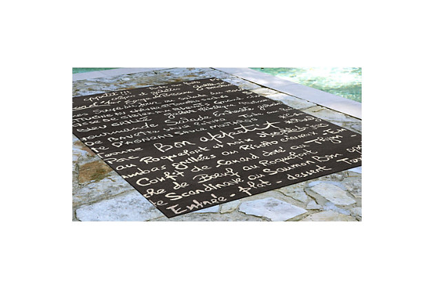 "Home Accents Deckside Parisian Tavern Indoor/Outdoor Rug 5' x 7'6"", , large"