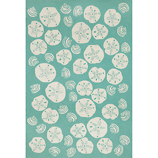 "Home Accents Deckside Sea Shell Indoor/Outdoor Rug 5' x 7'6"", , rollover"