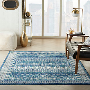 Nourison Passion 5' x 7' Area Rug, Navy Blue, rollover