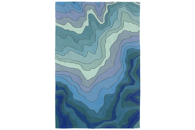 Home Accents Highlands Sea Scape Indoor/Outdoor Rug 5' x 7'6