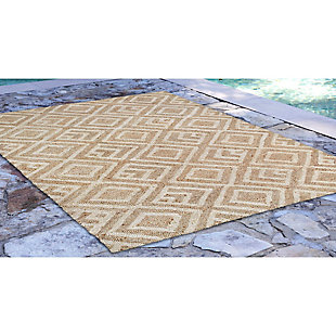 "Home Accents Facet Marquise 5' x 7'6"" Indoor/Outdoor Rug, , large"