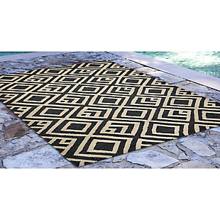 """Home Accents Facet Marquise 5' x 7'6"""" Indoor/Outdoor Rug, , large"""