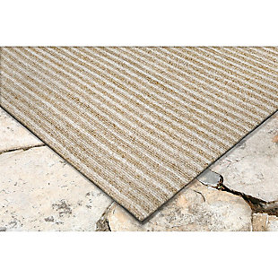 """Home Accents Facet Mini Stripe Indoor/Outdoor Rug 5' x 7'6"""", , large"""