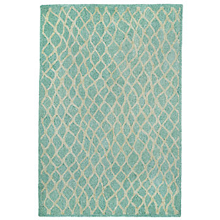 "Home Accents Facet Twirl Indoor/Outdoor Rug 5' x 7'6"", Blue, large"