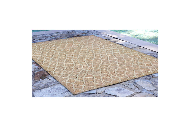 """Home Accents Facet Twirl Indoor/Outdoor Rug 5' x 7'6"""", , large"""