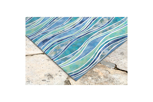 Home Accents Spectrum III Comber 5' x 8' Indoor/Outdoor Rug, , large