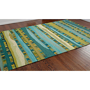 Home Accents Cordoba Ornate Stripe Rug 5' x 8', Green, rollover