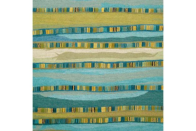 Home Accents Cordoba Ornate Stripe Rug 5' x 8', Green, large