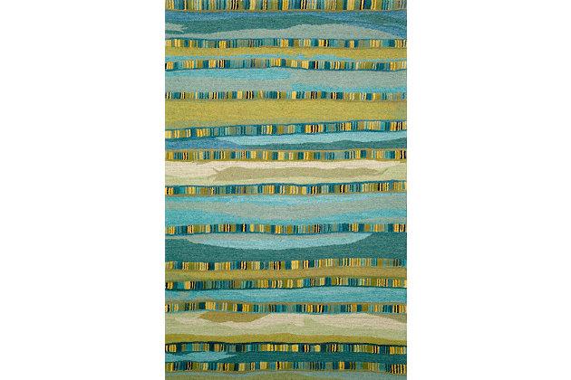 Home Accents Cordoba Ornate Stripe Rug 5' x 8' by Ashley HomeStore, Green