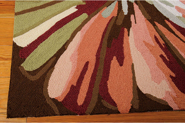 Nourison Fantasy Multicolor 8' Runner Hallway Rug, Multi, large