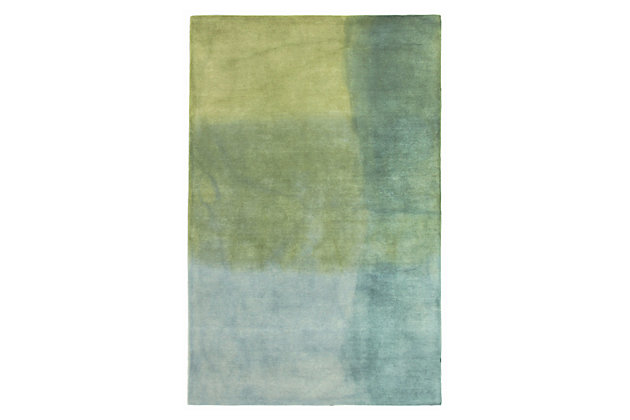 Home Accents Milano Patina Rug 5' x 8' by Ashley HomeStore, Blue