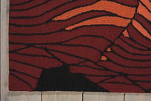 Nourison Fantasy Black 5'x8' Area Rug, Black, large