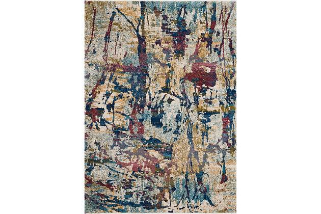 Nourison Fusion Multicolor 5'x7' Colorful Area Rug, Cream/Multi, large