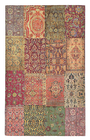 """Home Accents Sabrina Zagros Rug 7'10"""" x 9'6"""", Red, large"""