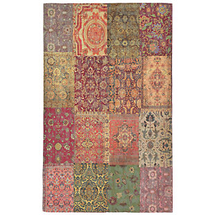 """Home Accents Sabrina Zagros Rug 7'10"""" x 9'6"""", Red, rollover"""