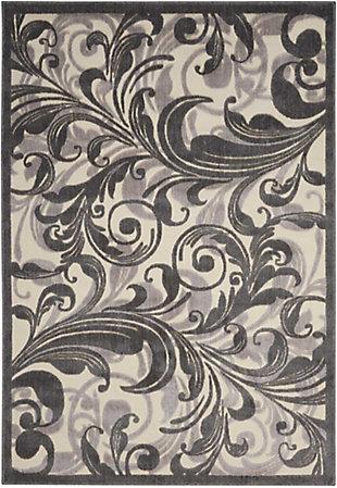 Nourison Graphic Illusions Multicolor 5'x8' Area Rug, Multi, large