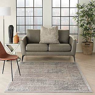 Nourison Graphic Illusions Gray 5'x8' Area Rug, Gray, rollover