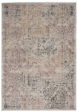 Nourison Graphic Illusions Gray 5'x8' Area Rug, Gray, large