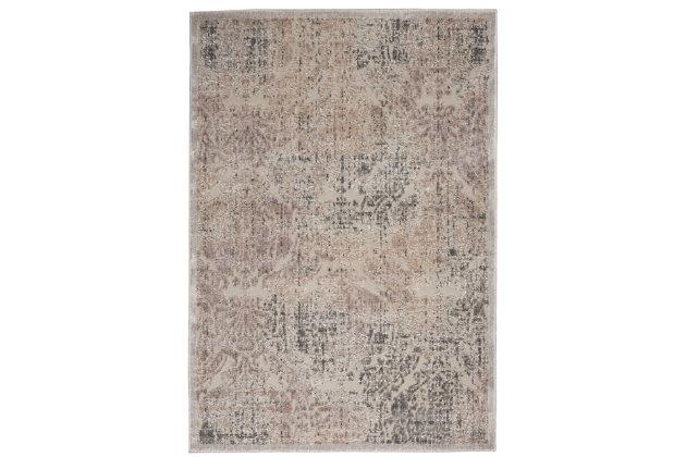 Nourison Graphic Illusions Gray 5'x8' Area Rug, Gray, large