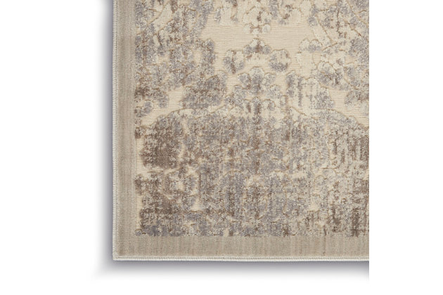 Nourison Graphic Illusions White 5'x8' Area Rug, Ivory, large