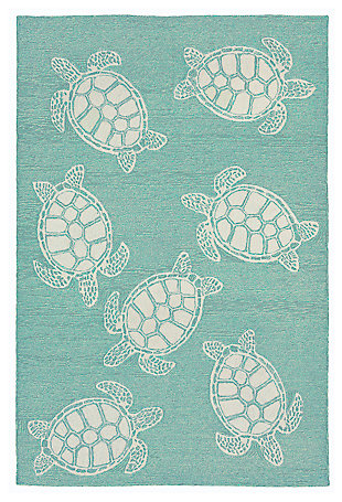 """Home Accents Fortina Terrapin Indoor/Outdoor Rug 7'6"""" x 9'6"""", , large"""