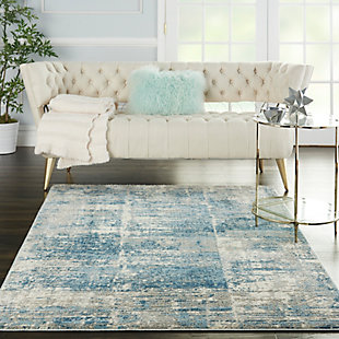 Nourison Solace 5' x 7' Area Rug, Ivory/Gray/Blue, rollover