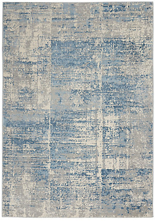 Nourison Solace 5' x 7' Area Rug, Ivory/Gray/Blue, large