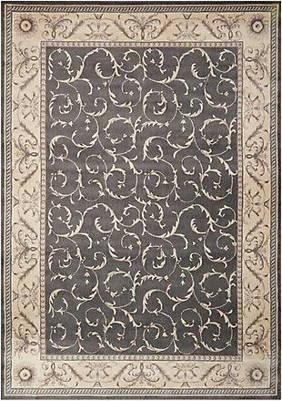 Nourison Somerset ST02 Black 8'x11' Rug, Charcoal, large