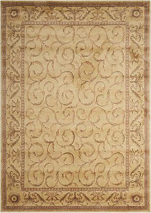 Nourison Somerset St02 Beige Multicolor 8'x11' Rug, Ivory, large