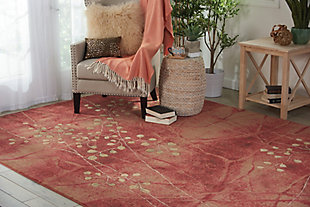 Nourison Somerset ST74 Red 8'x11' Rug, Flame, rollover