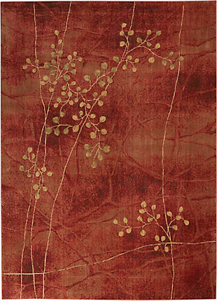 Nourison Somerset ST74 Red 8'x11' Rug, Flame, large