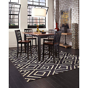 "Home Accents Facet Marquise Indoor/Outdoor Rug 7'6"" x 9'6"", , large"