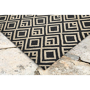 "Home Accents Facet Marquise Indoor/Outdoor Rug 7'6"" x 9'6"", , rollover"