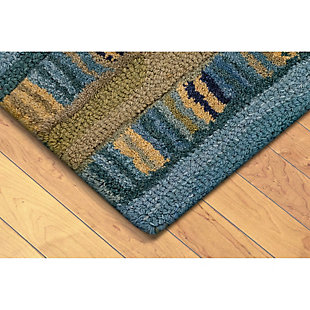 Home Accents Cordoba Ornate Stripe Rug 8' x 10', Green, rollover