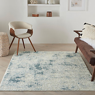 Nourison Trance 5' x 7' Area Rug, Ivory Blue, rollover
