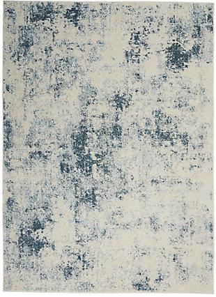 Nourison Trance 5' x 7' Area Rug, Ivory Blue, large