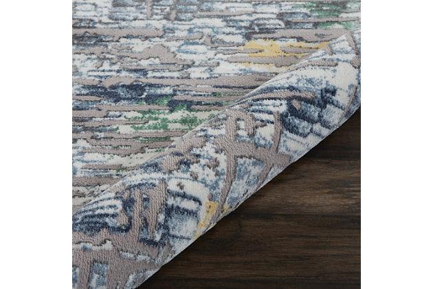 Nourison Urban Chic Gray Multicolor 5'x8' Abstract Area Rug, Gray/Multi, large