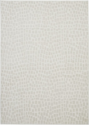 Nourison Urban Chic White 4'x6' Mid-century Area Rug, Cream, large