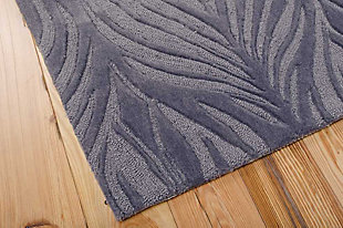 "Home Accents Contour Feather 7'3"" x 9'3"" Area Rug, Gray, rollover"