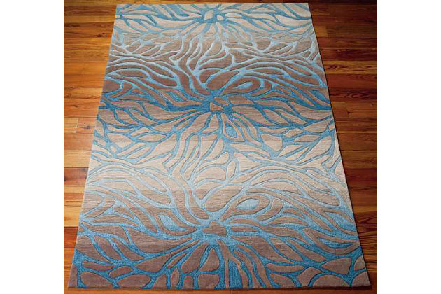 "Home Accents Contour Ocean 5' x 7'6"" Area Rug, Gray, large"