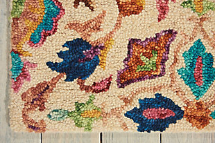 Nourison Vivid Multicolor 5'x8' Area Rug, Ivory, large