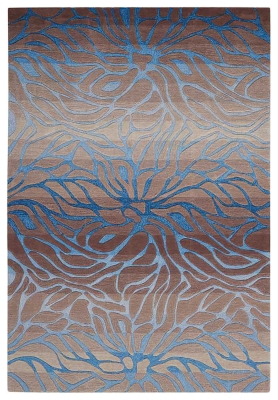"Ashley Home Accents Contour Ocean 7'3"" x 9'3"" Area Rug, Gray"