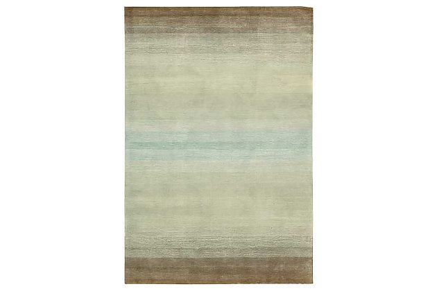"Home Accents Contour Nature 5' x 7'6"" Area Rug, Green, large"